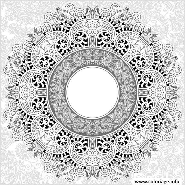 Dessin adulte mandala par karakotsya 2 Coloriage Gratuit à Imprimer