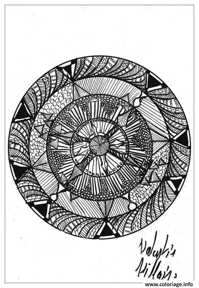 Dessin adulte dessin Mandala 02 par valentin Coloriage Gratuit à Imprimer