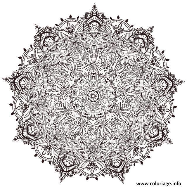 Dessin mandala a colorier tres detaille par Anvino Coloriage Gratuit à Imprimer