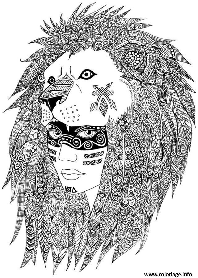 Coloriage adulte indien sabrina dessin - Coloriage petit indien imprimer ...