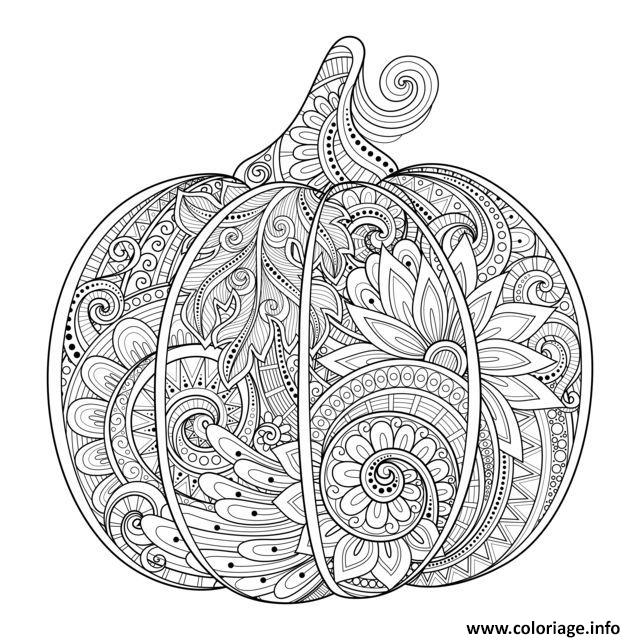 coloriage citrouille halloween zentangle source 123rf irinarivoruchko dessin. Black Bedroom Furniture Sets. Home Design Ideas