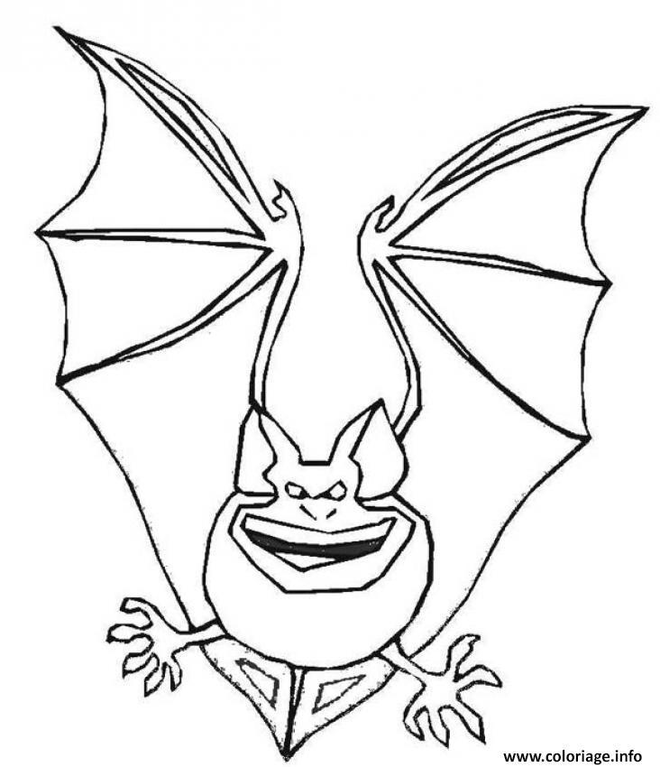 Coloriage une chauve souris mechante dessin - Chauve souris a imprimer ...