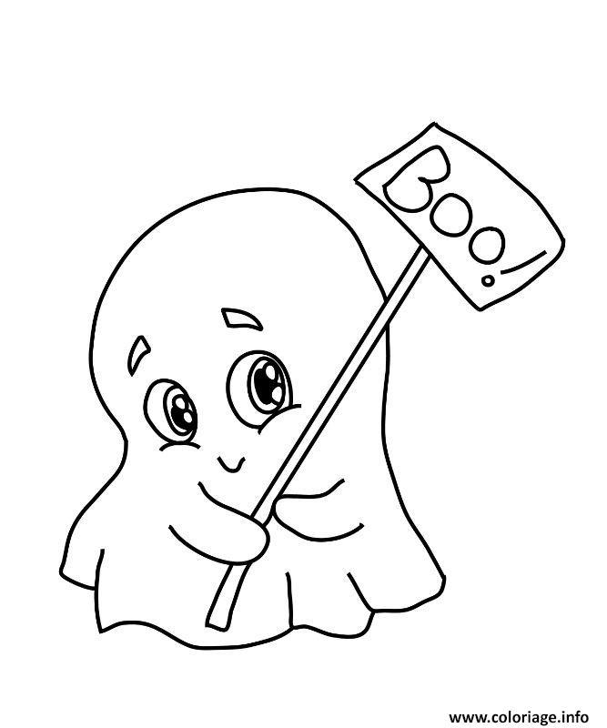 petit fantome mignon maternelle halloween coloriage dessin