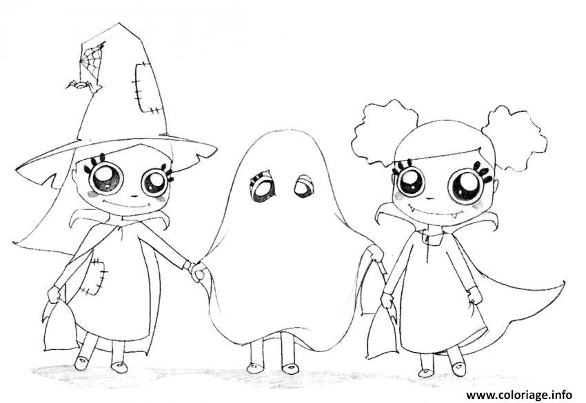 Coloriage Halloween Fantome A Imprimer