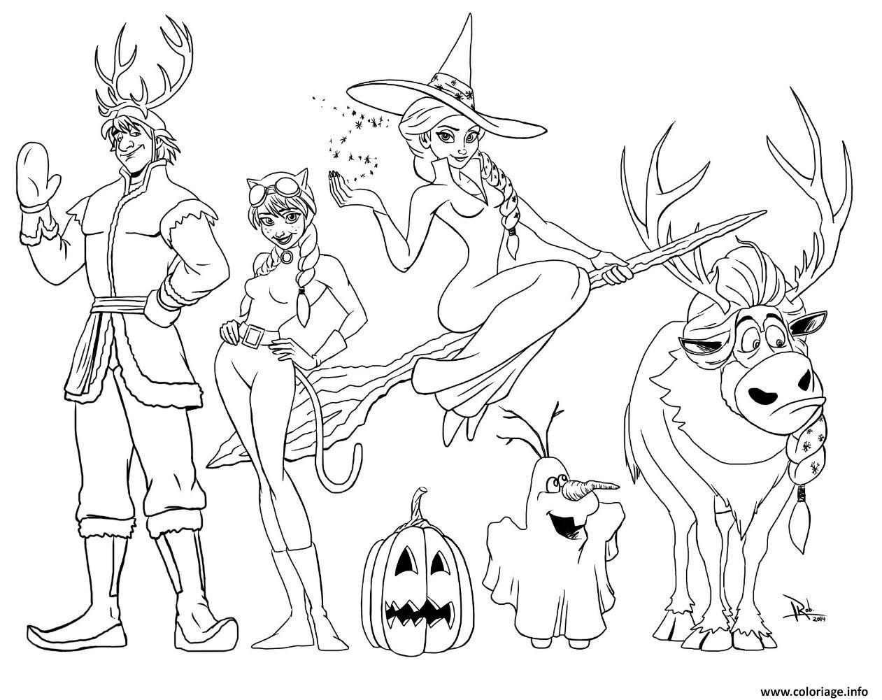 Coloriage Halloween La Reine Des Neiges Dessin  Imprimer