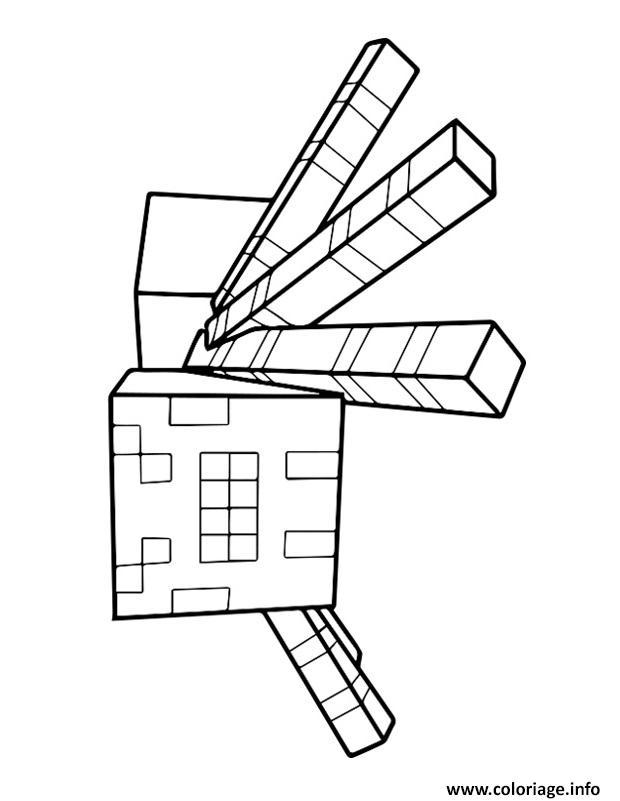 Dessin minecraft Spider Coloriage Gratuit à Imprimer