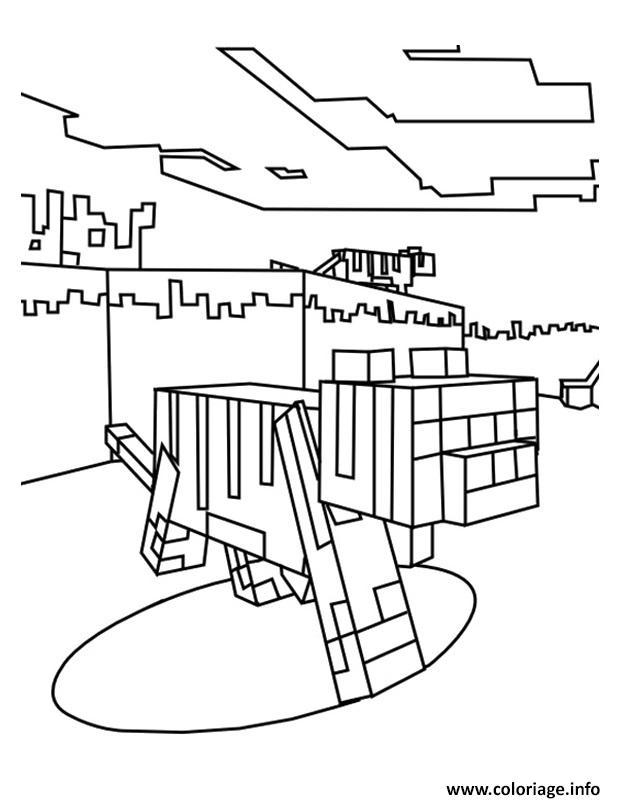 Dessin minecraft Ocelot Coloriage Gratuit à Imprimer