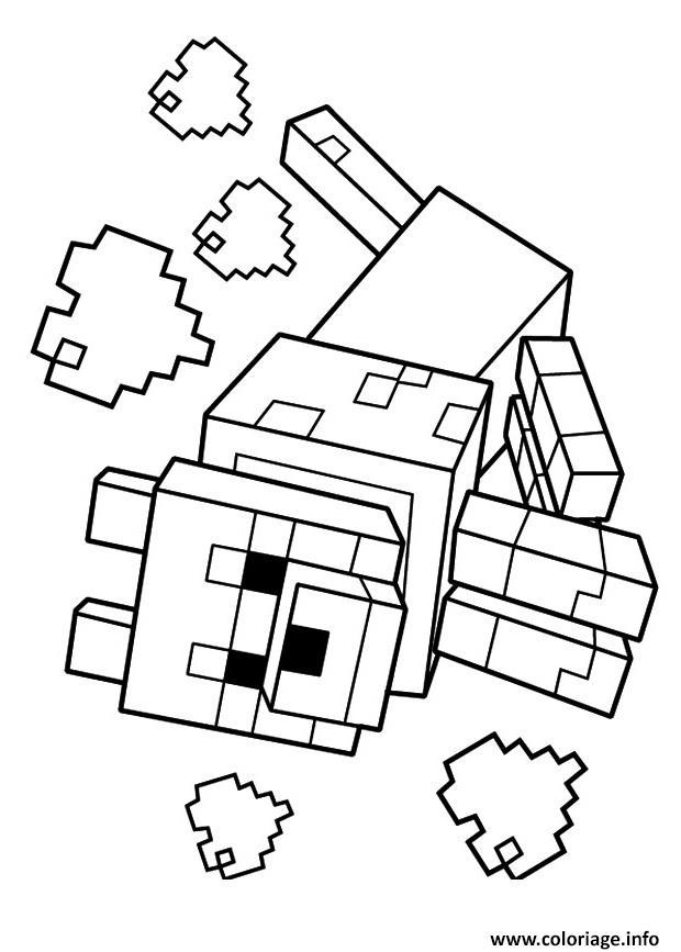 Coloriage Minecraft Le Loup 1 Dessin