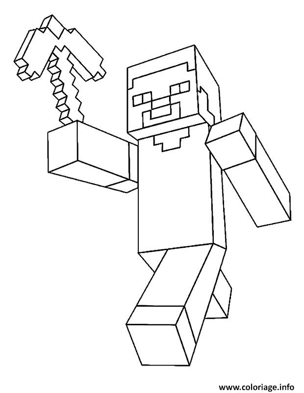 Dessin minecraft Steve Coloriage Gratuit à Imprimer