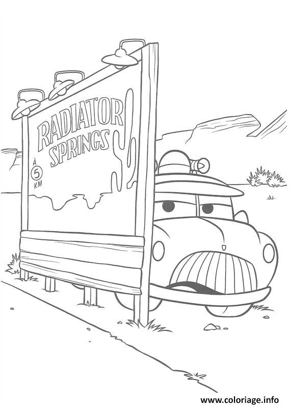 coloriage flash mcqueen planque sherif dessin