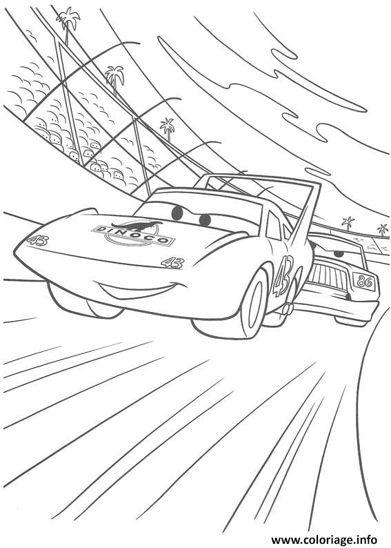 Coloriage flash mcqueen la derniere du king dessin - Jeu gratuit cars flash mcqueen ...