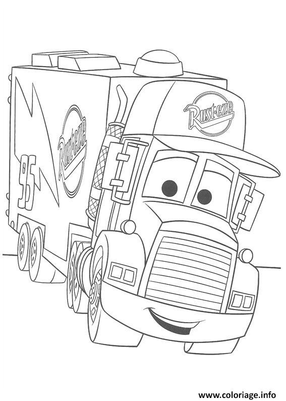 Coloriage flash mcqueen rusteze - Flash mcqueen film gratuit ...