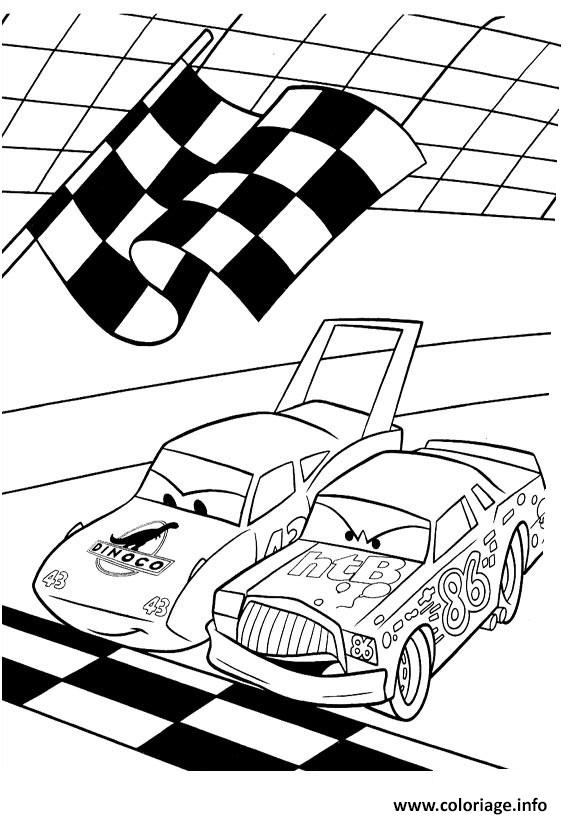 Coloriage flash mcqueen depart course - Dessins a colorier gratuits a imprimer ...
