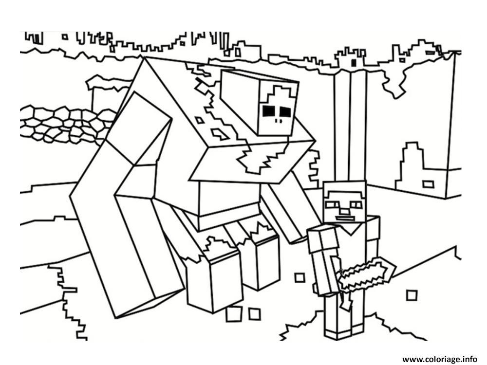 Coloriage Dessin Minecraft 2 Dessin Minecraft A Imprimer
