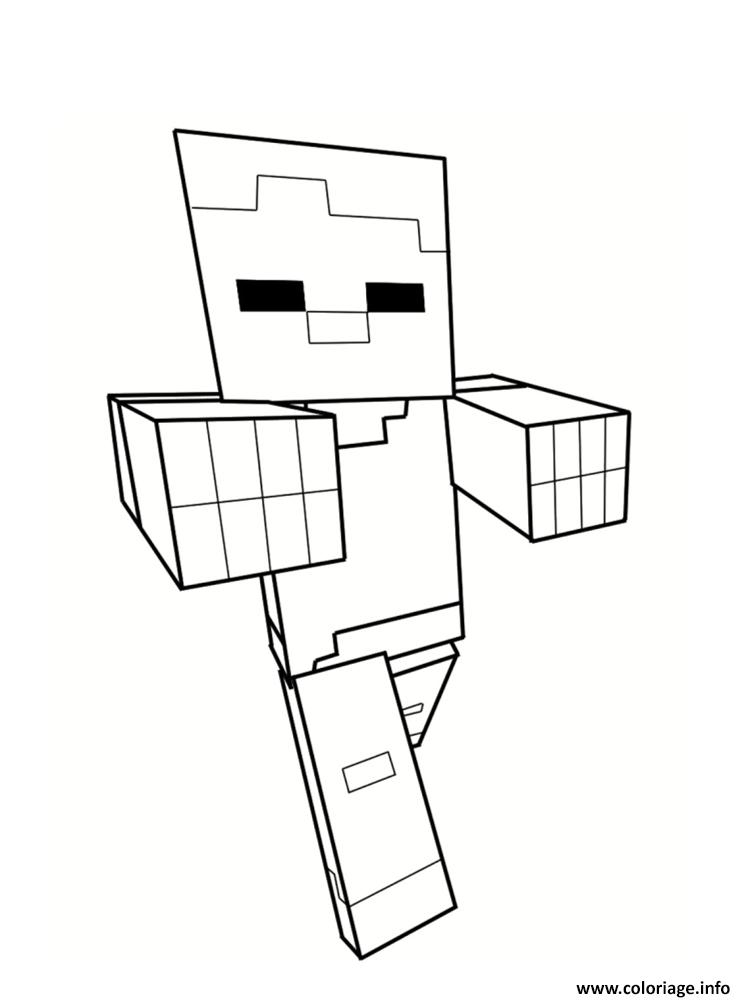 minecraft en ligne coloriage dessin