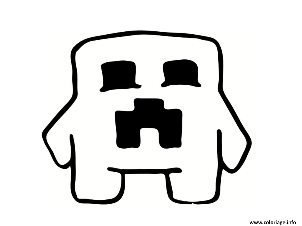 Coloriage Creeper Minecraft Jecoloriecom