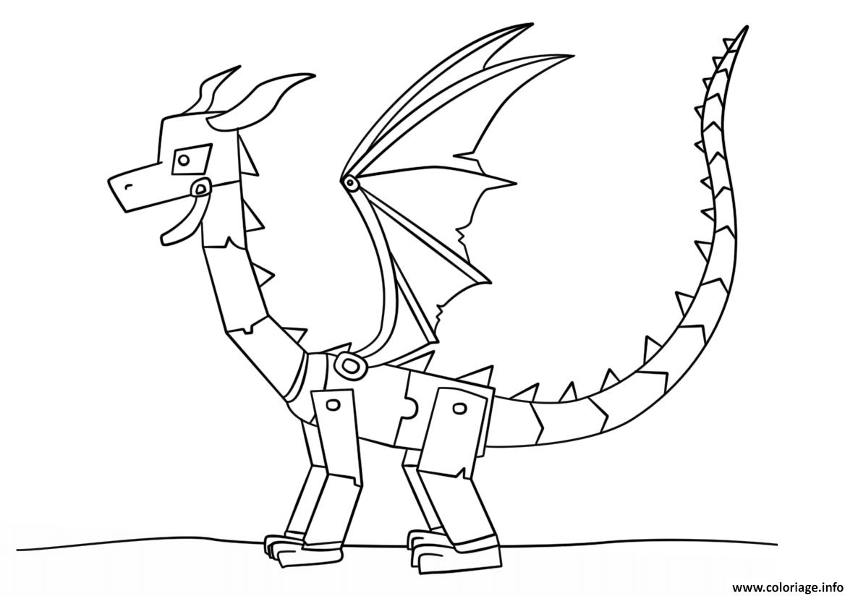 Coloriage Minecraft Ender Dragon Dessin Minecraft à imprimer