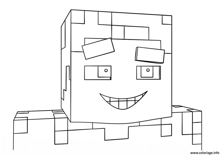 Dessin minecraft steve sourire Coloriage Gratuit à Imprimer