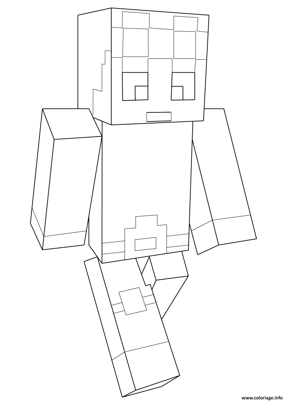 Spiderman Kleurplaat Uitprinten Coloriage Minecraft Dantdm Jecolorie Com