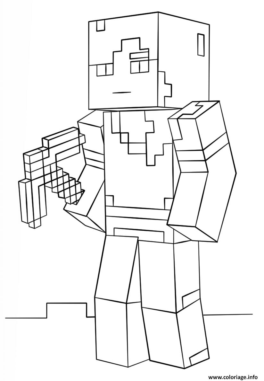 Coloriage minecraft alex dessin - Coloriage info ...