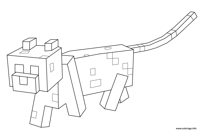 Dessin minecraft chat Coloriage Gratuit à Imprimer