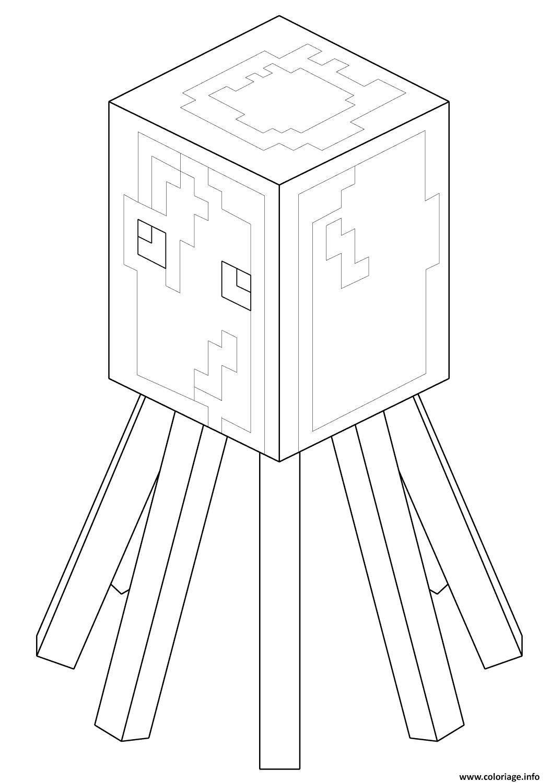 Coloriage Minecraft Squid Dessin Minecraft à imprimer