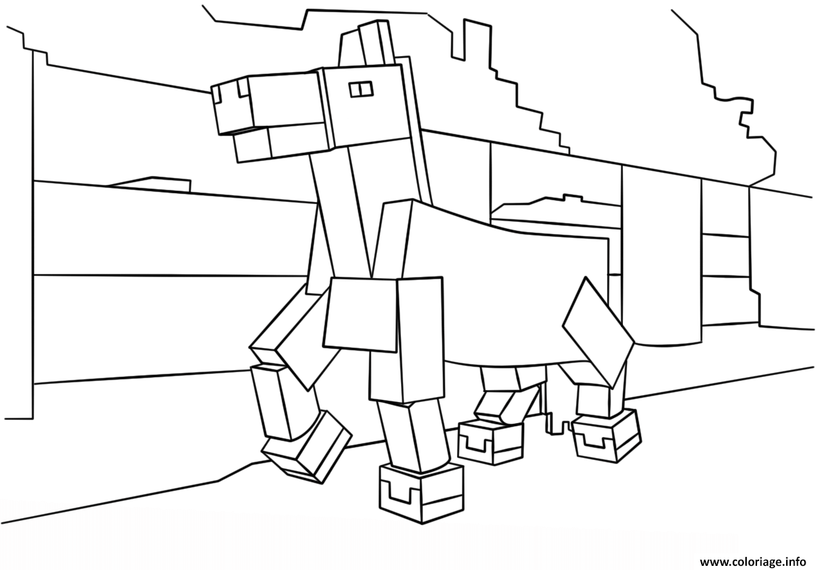 coloriage minecraft cheval dessin. Black Bedroom Furniture Sets. Home Design Ideas