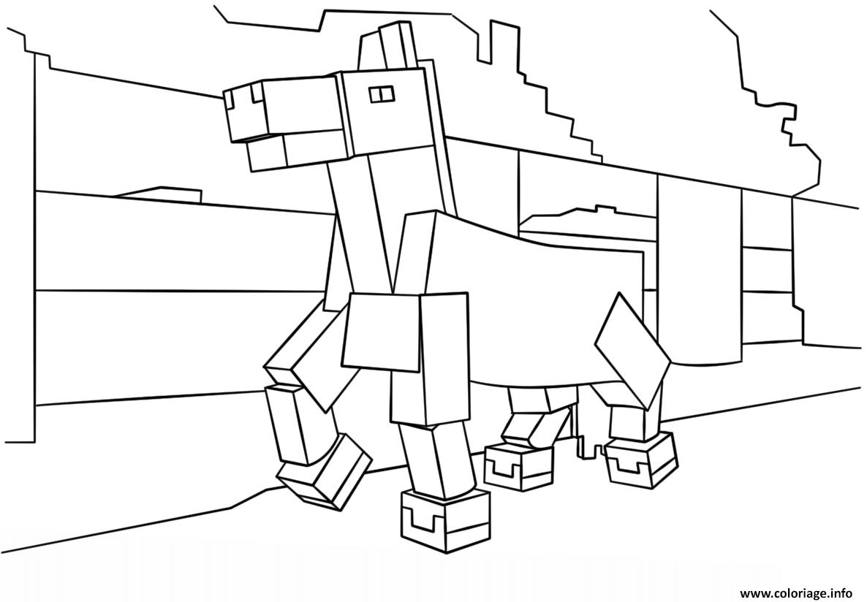 Coloriage à Imprimer Gratuit Minecraft Bondless