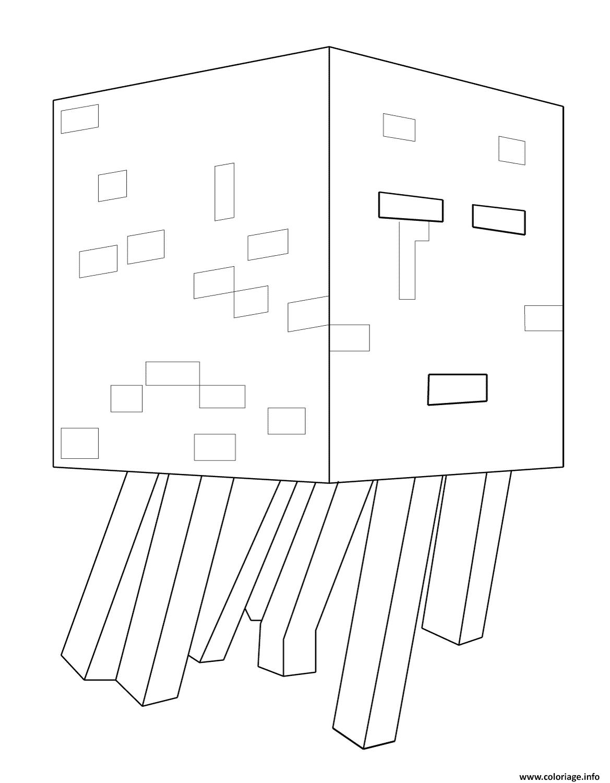 Coloriage Minecraft Ghast dessin