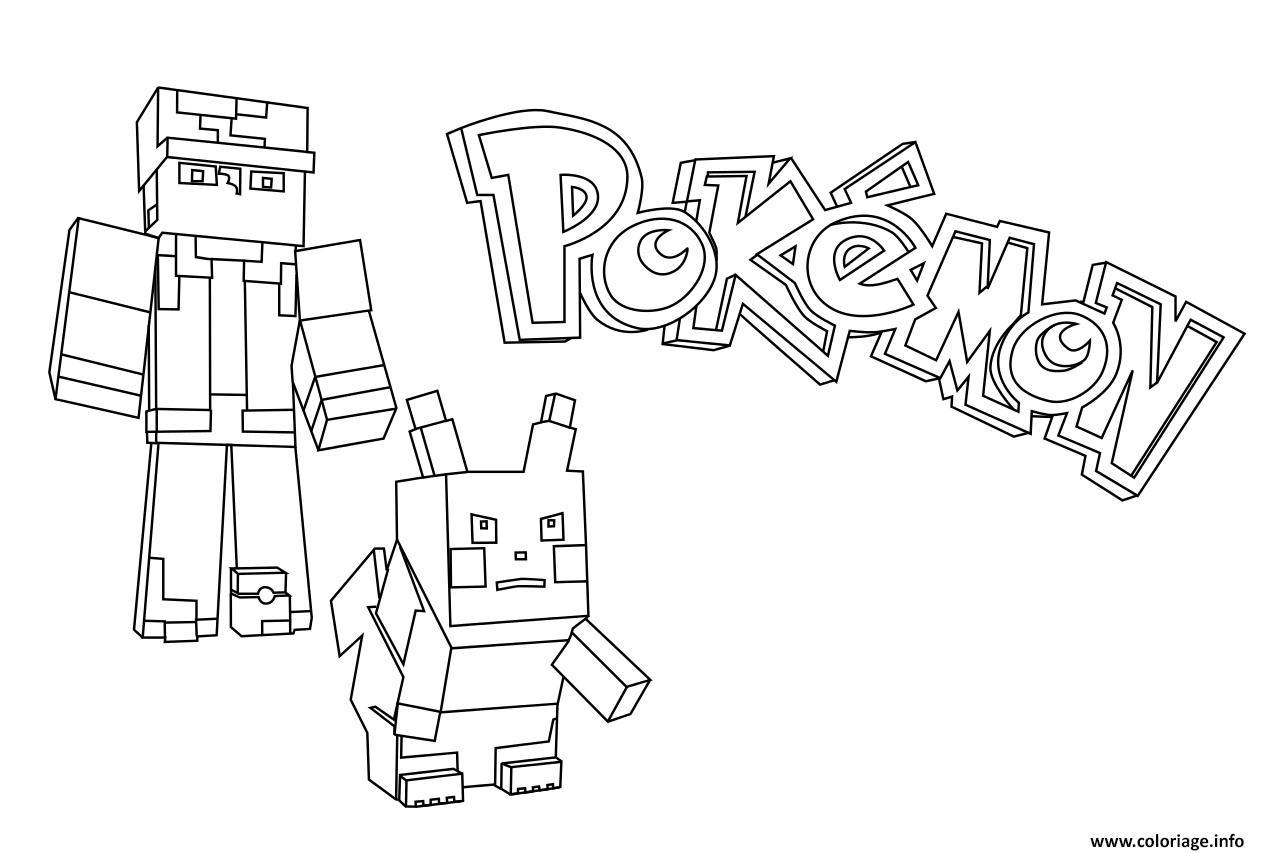Coloriage minecraft pokemon dessin - Pokemon coloriage en ligne ...