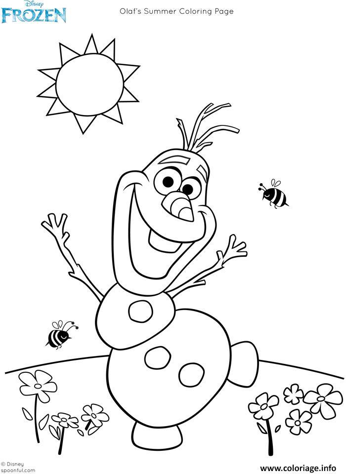 coloriage olaf reine des neiges dessin imprimer - Jeux En Ligne Reine Des Neiges