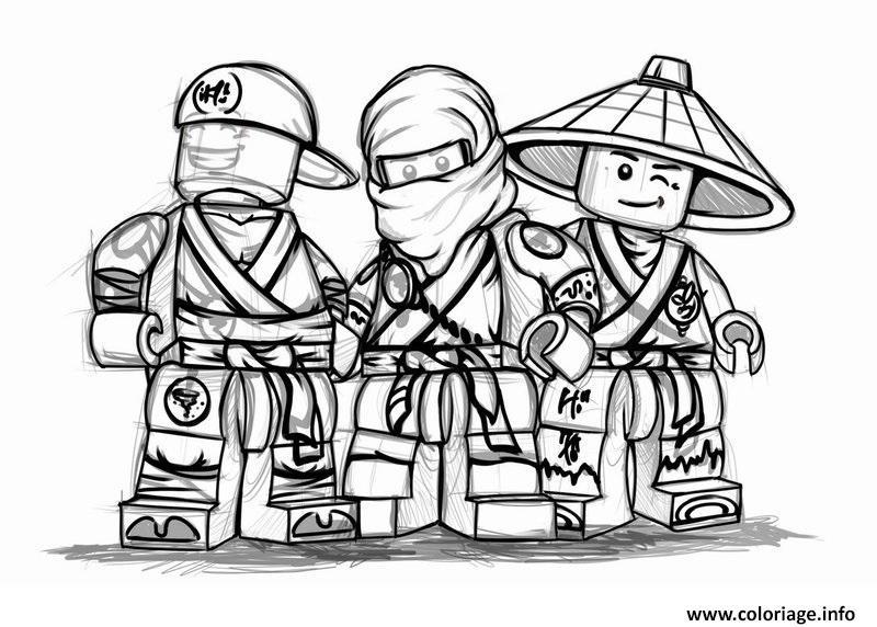 Dessin ninjago cool team nouvelle saison Coloriage Gratuit à Imprimer