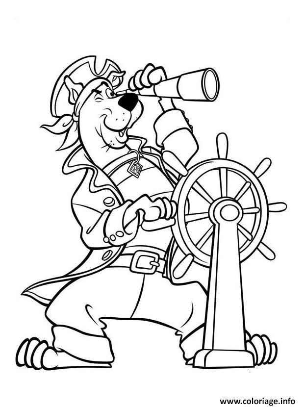 Coloriage Scooby Doo Le Pirate dessin