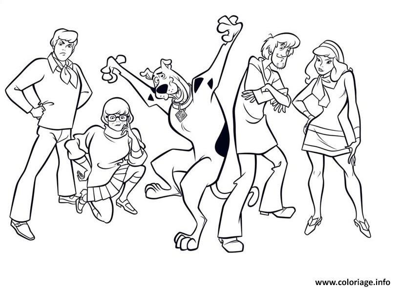 Coloriage Scooby Doo 246 Dessin