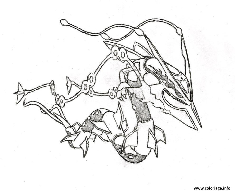 Pokemon coloring pages mega rayquaza - Coloriage Pokemon Mega Rayquaza 6 Dessin Gratuit