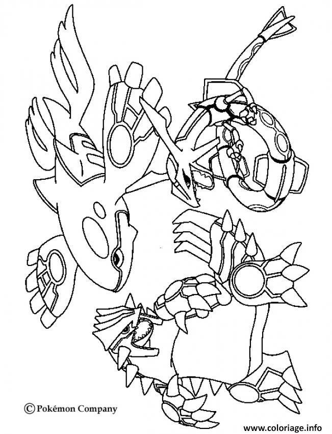 Dessin pokemon mega rayquaza 7 Coloriage Gratuit à Imprimer