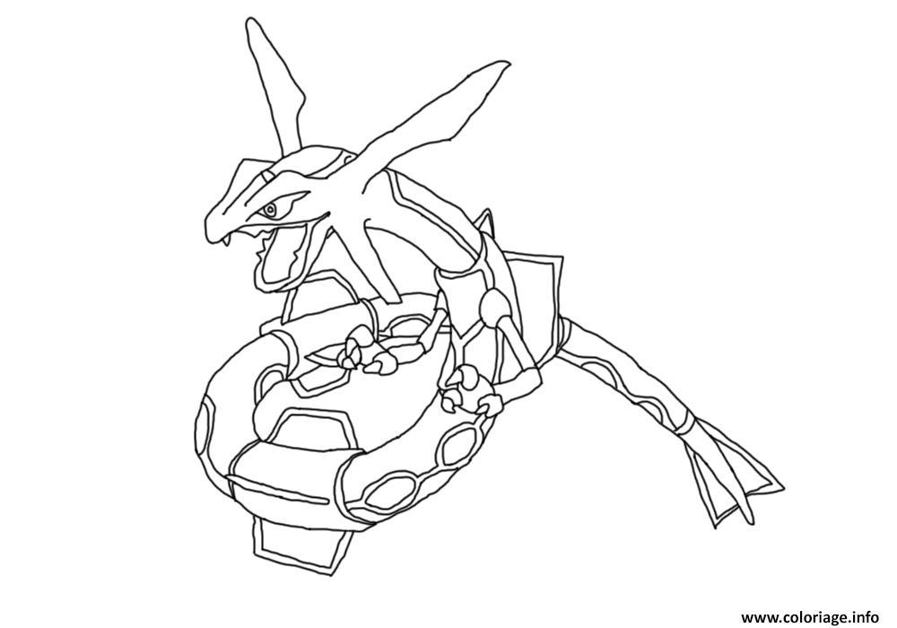 Coloriage Pokemon Mega Rayquaza 9 Dessin