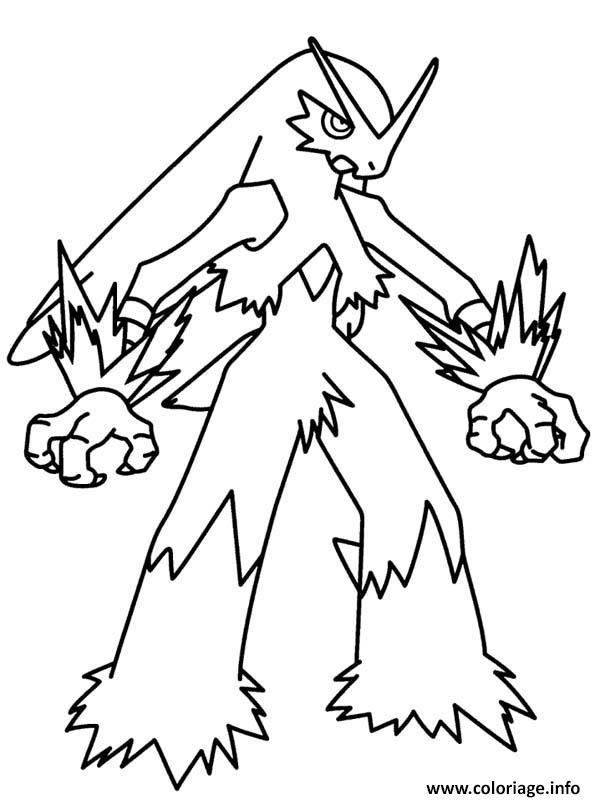 Dessin pokemon mega evolution blaziken Coloriage Gratuit à Imprimer
