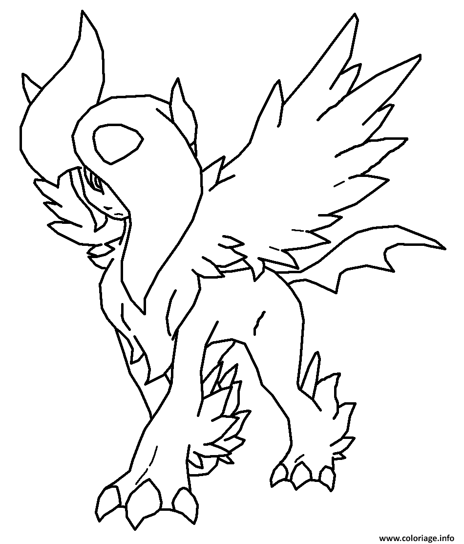 Coloriage Pokemon Mega Evolution Eevee Evolutions Dessin à Imprimer