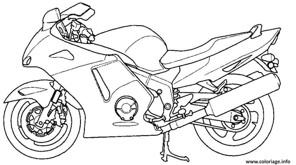 Coloriage Moto 113 dessin