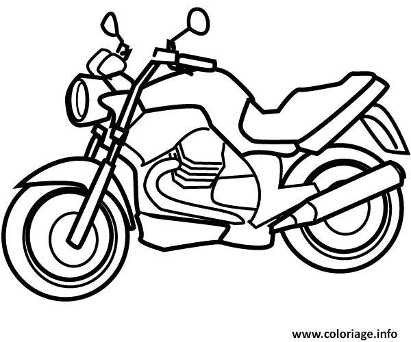 Coloriage moto 129 dessin - Dessin moto simple ...