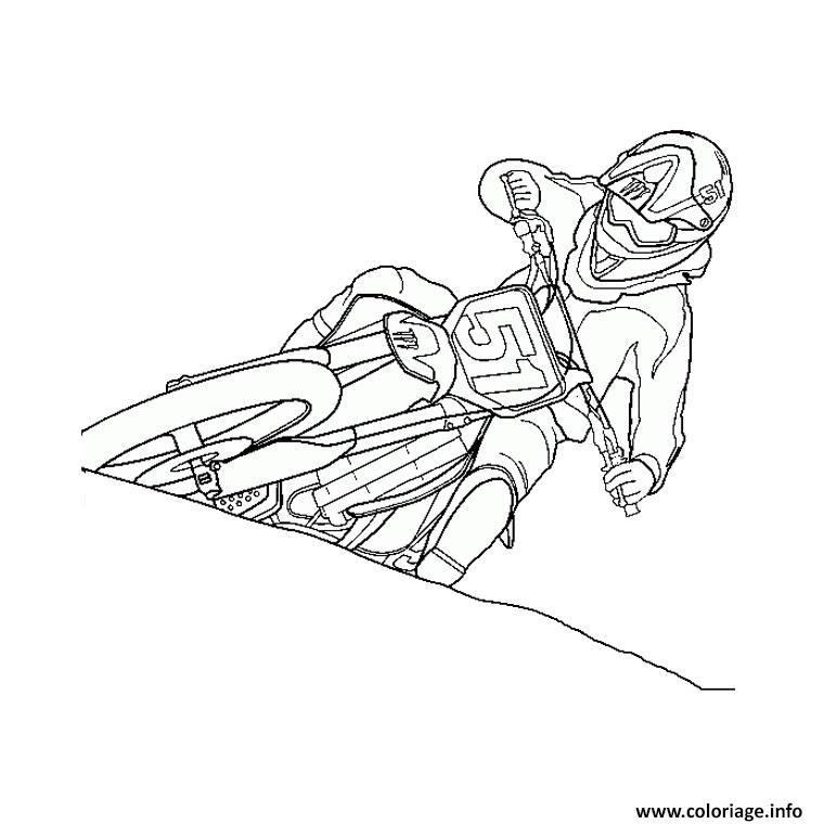 Dessin moto de course 31 Coloriage Gratuit à Imprimer