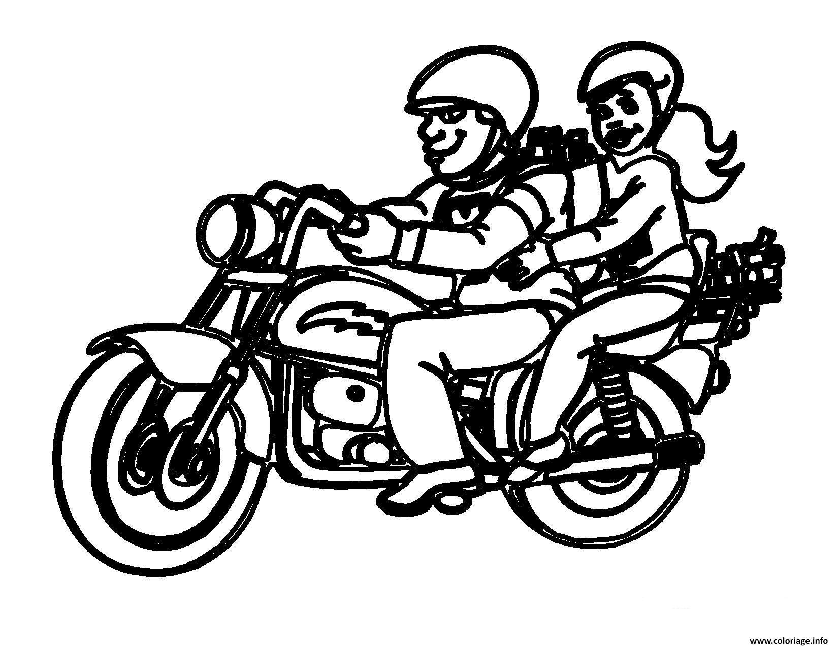 Dessin motocyclette 8 Coloriage Gratuit à Imprimer