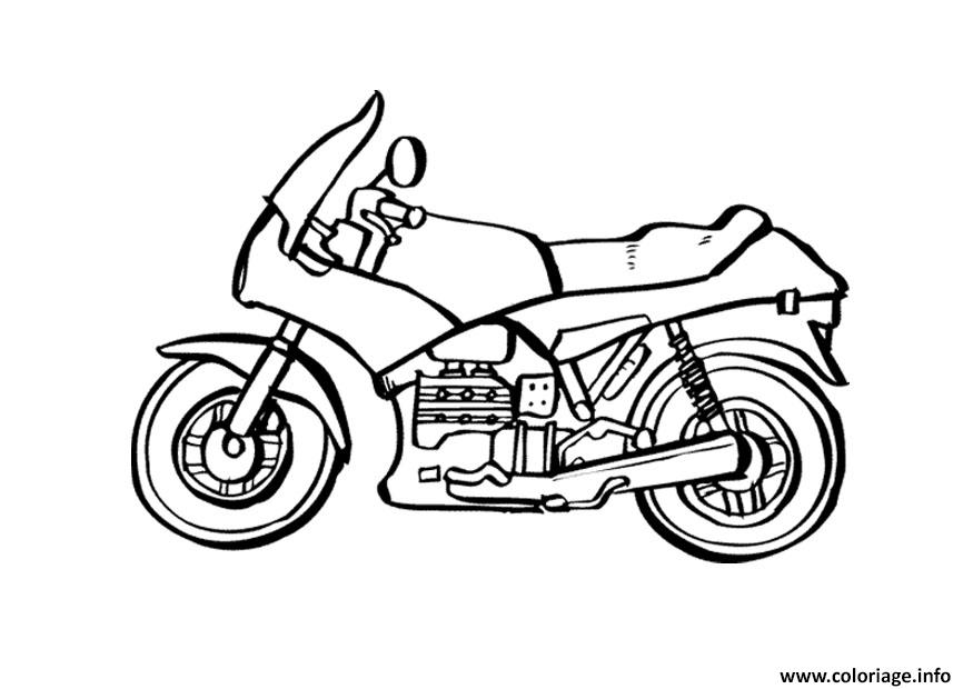 coloriage moto de course 2 dessin. Black Bedroom Furniture Sets. Home Design Ideas