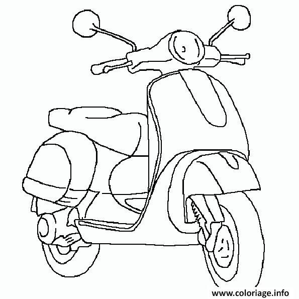 Dessin moto 143 Coloriage Gratuit à Imprimer