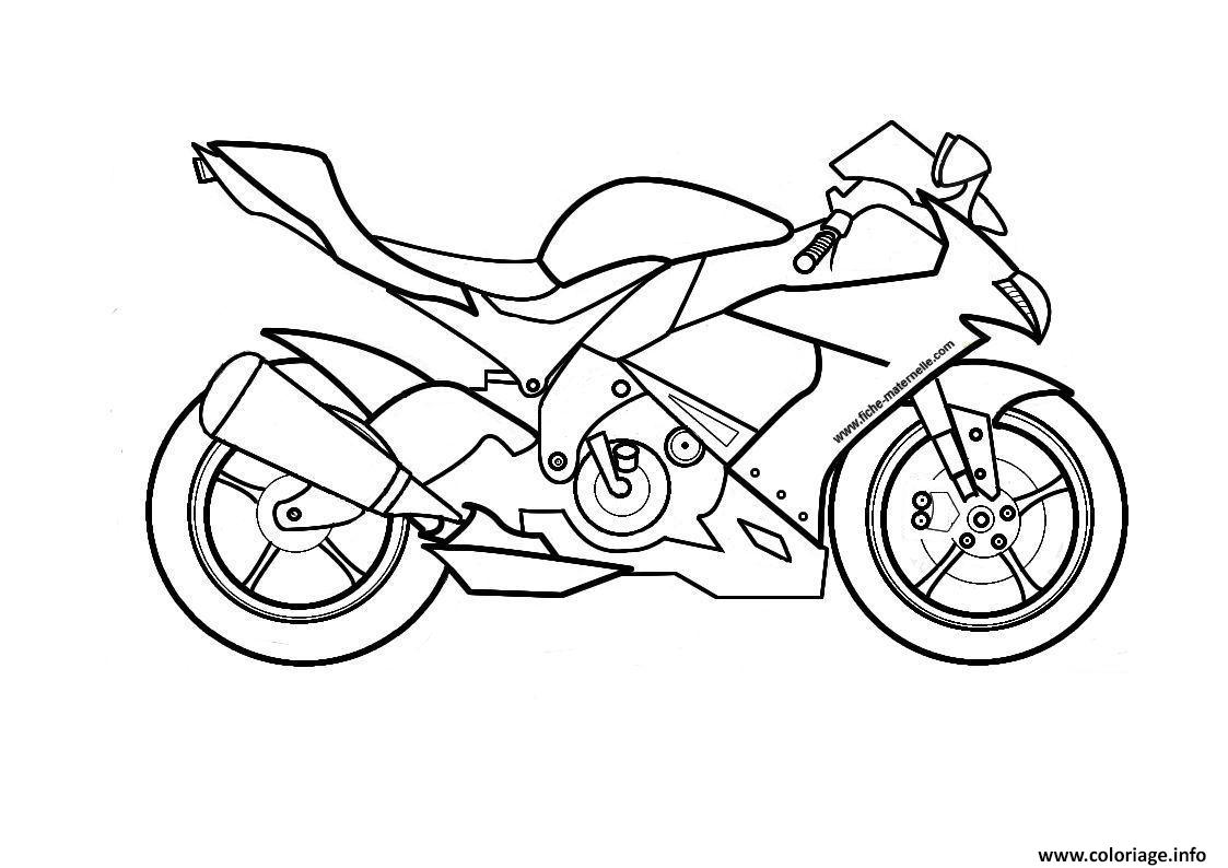 moto de course 14 coloriage