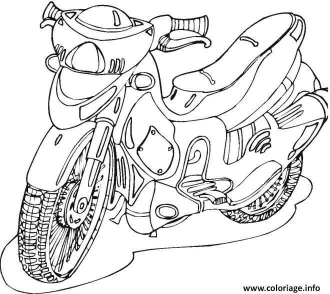 Coloriage moto facile 41 - Dessin de moto facile a faire ...