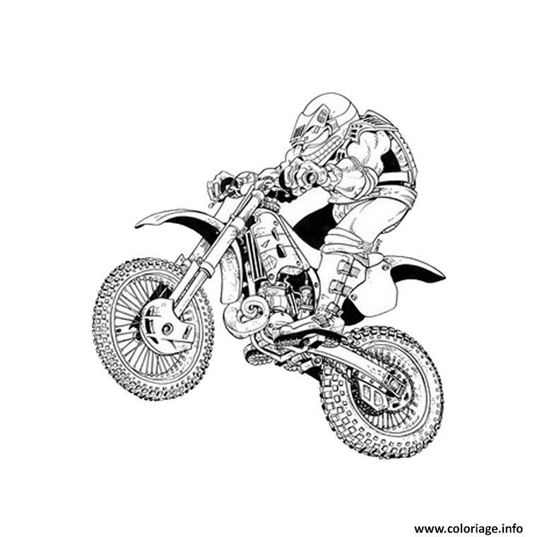 Coloriage moto de course 4 - JeColorie.com