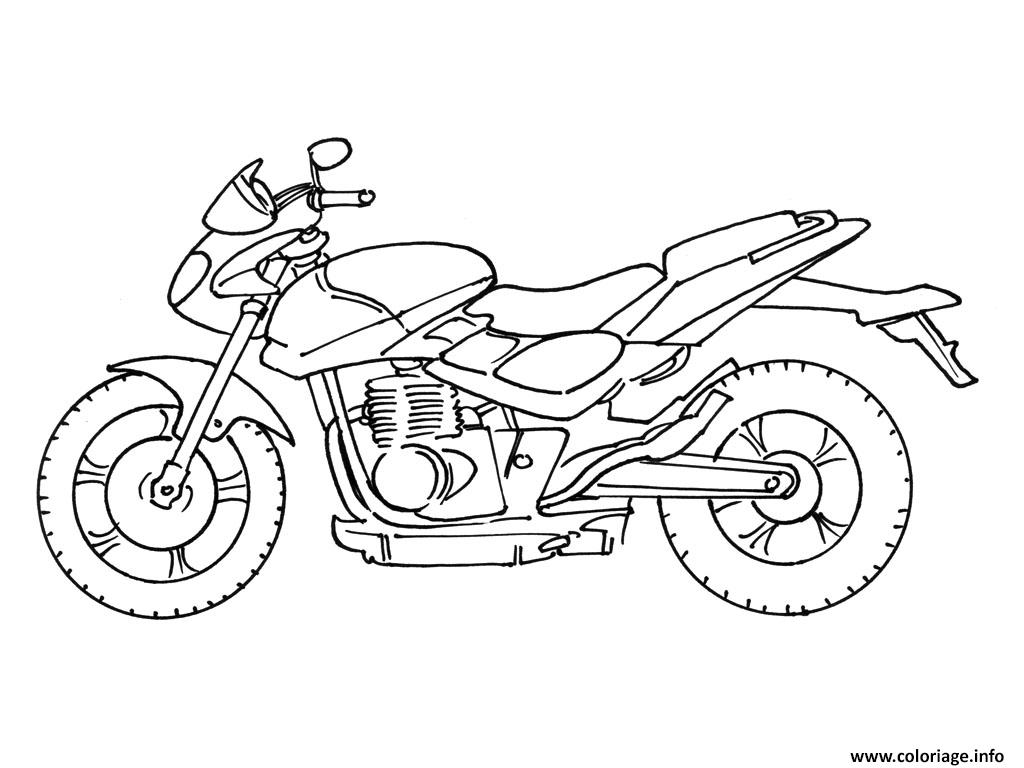 Coloriage moto facile 37 - Moto cross dessin ...