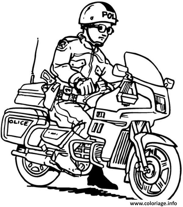 Coloriage Moto Facile 39 dessin